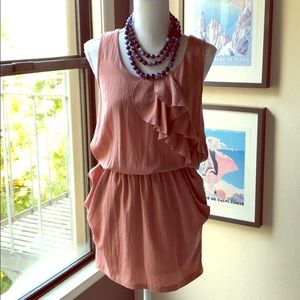 Romeo &Juliet dusty rose pink ruffled dress size S